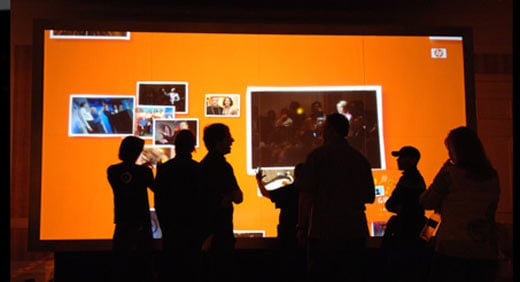 Obscura Digital's Huge Multitouch Display