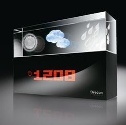 Oregon Scientific Crystal Weather Station: Forecast for Today… Cool Industrial Design