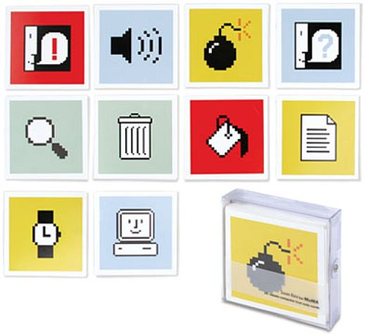Classic Mac Icons on Note Cards