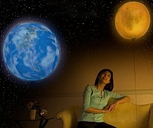 Planetary Lights Float Around Your Room