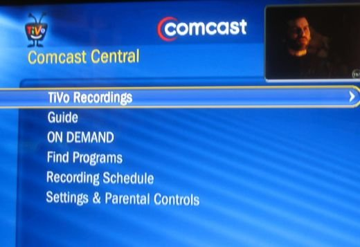 TiVo on Comcast