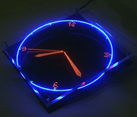Spinning Led Clock Uses Image Persistence To Tell Time