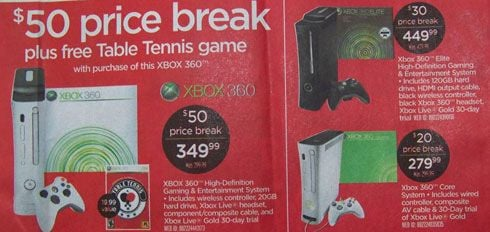 Circuit City Xbox 360 Price Cut