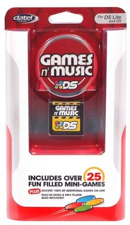 Datel Games 'n' Music Homebrew Cart for Nintendo DS
