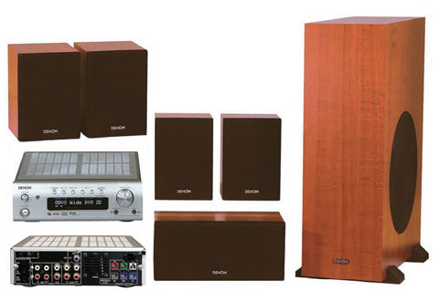 Denon Dht-M380 Bookshelf Home Theater: Woody Goodness