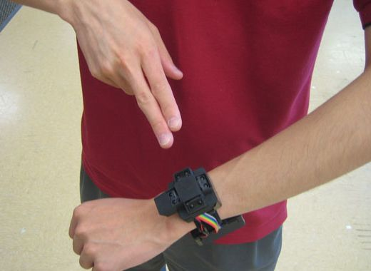 Gesture Controlled Watch Prototyped