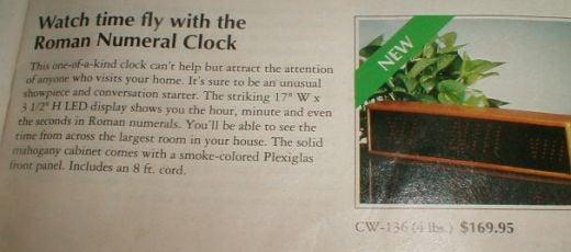 Retro Heathkit Roman Numeral Clock