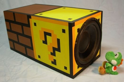 Super Mario Subwoofer Paint Job