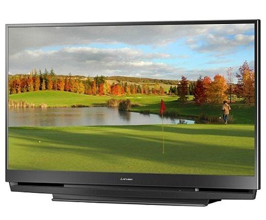 mitsubishi 73 inch 1080p dlp tv gets x v color hdmi 1 3. Black Bedroom Furniture Sets. Home Design Ideas