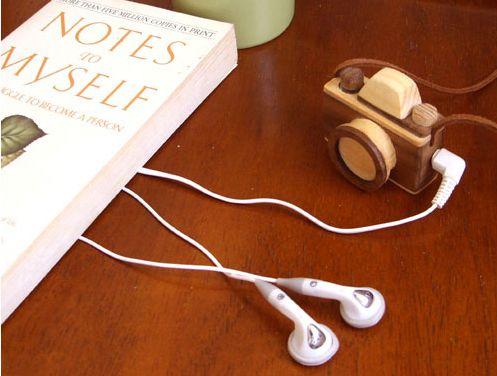 Tiny Wooden MP3 Camera