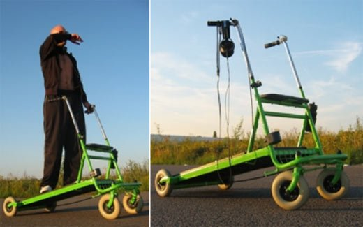 Rolling Treadmill Speeds You Down the Street