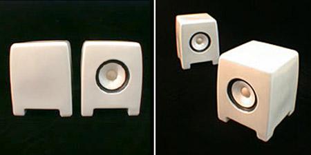 Porcelain Speakers from Noburu Kawamura