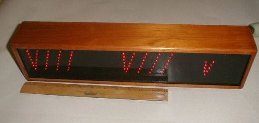 Retro Roman Numeral LED Clock Found on Ebay