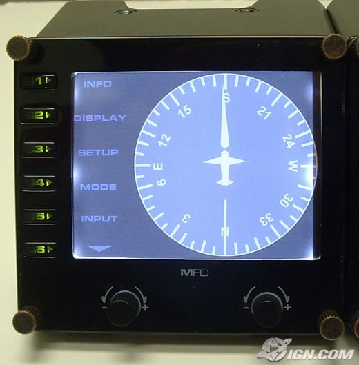 saitek flight gauge closeup