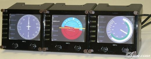 Saitek External LCD Gauges for Flight Simulator