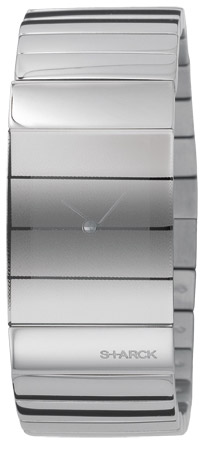 Philippe Starck Stainless Steel Veiled Watch
