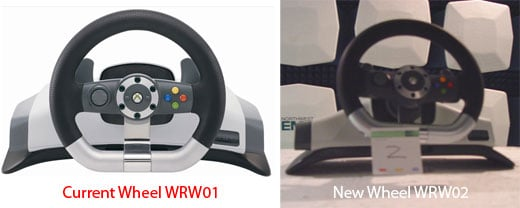 Xbox Wireless Racing Wheel WRW01 vs WRW02