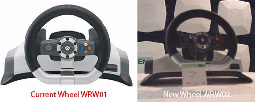 Xbox Wireless Racing Wheel WRW01 vs WRW02