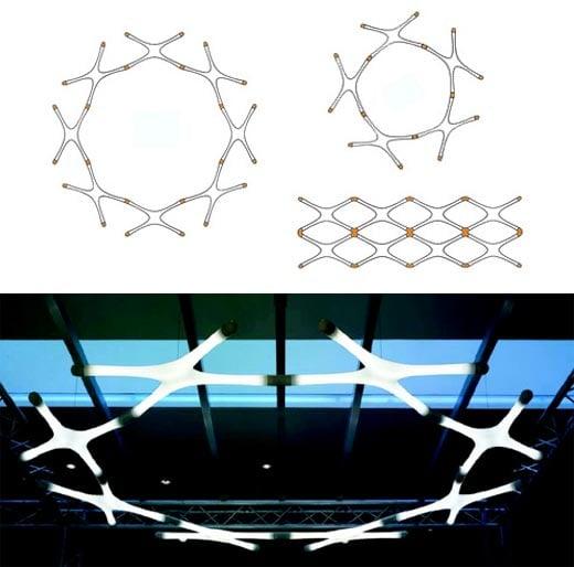 Fluorescent Light Elements: Systemx Interlocking Fluorescent Lights By Yamagiwa
