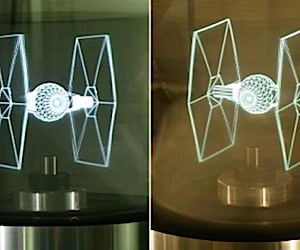 Holographic Display Shows 360-Degree Digital Images