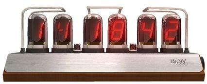 B & W LED Tubes Clock