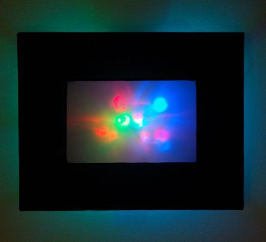 Led Wall Art abstract led wall art casts a colorful glow - technabob