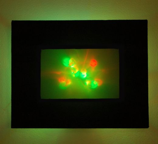 Abstract LED Wall Art Casts a Colorful Glow