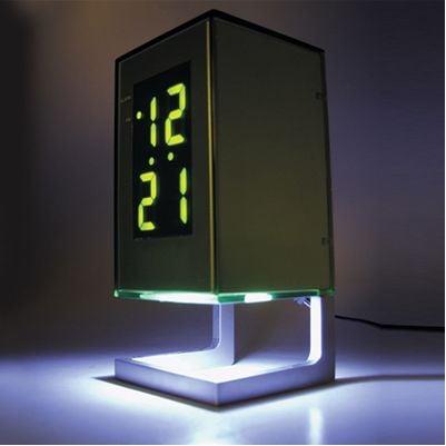 Designeon Led Clock And Light Combo Technabob