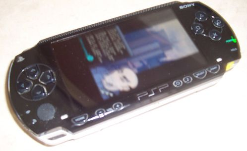 The photo above shows a screenshot of a PSP running a DS homebrew game ...
