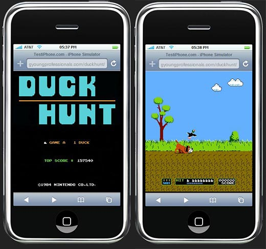 nintendo duck hunt on iphone