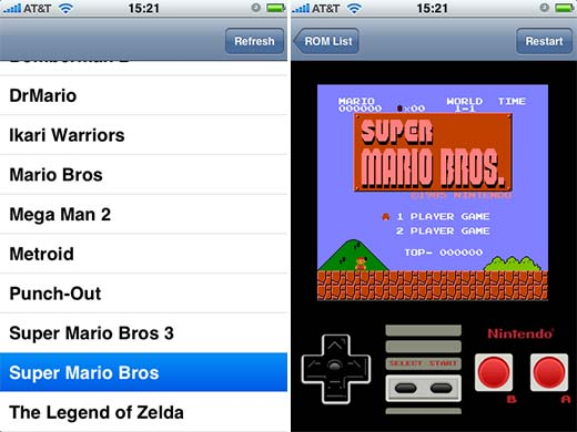 NES Emulator Running on iPhone