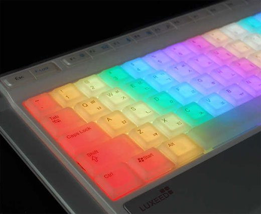 image of computer keyboard lit up