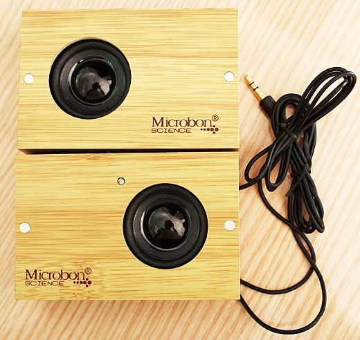 Microbon Mini Speakers Made From Wood