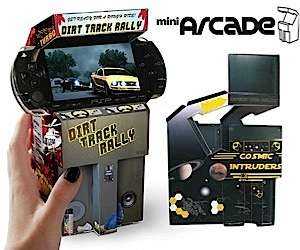 Cardboard Mini Arcade for the Psp