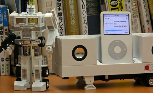 optimus prime ipod dock2
