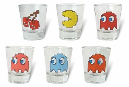 Pac-Man Shot Glasses: Inky, Blinky, Pinky and Drinky