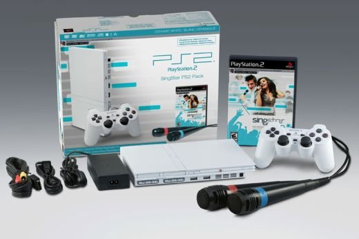 Playstation 2 White Singstar Bundle Announced