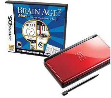 Red and Black Nintendo Ds Lite on the Way