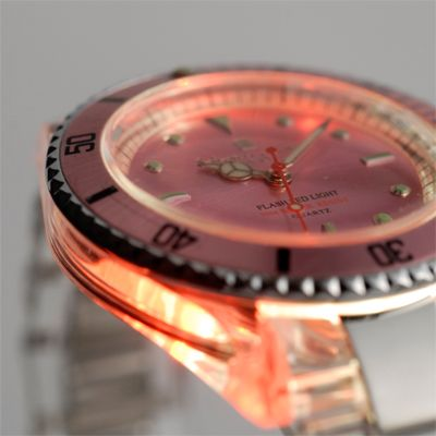 salvatore manna watch led pink