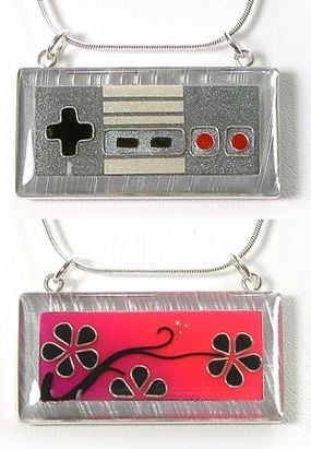 Nintendo Reversible Necklace by Sarah Lynne