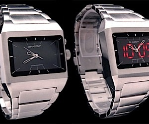 Shadow Ss Watch Hides LED Under Analog Dial