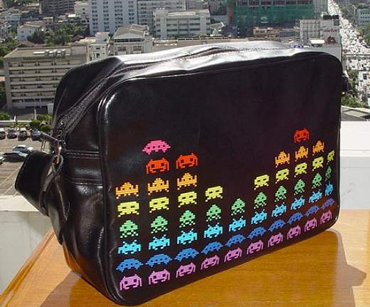 space invaders bag