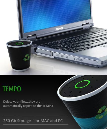 Tempo Recycling Hard Drive by Cagninadesign