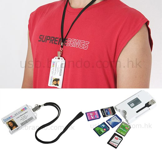 USB Badge Memory Card Reader