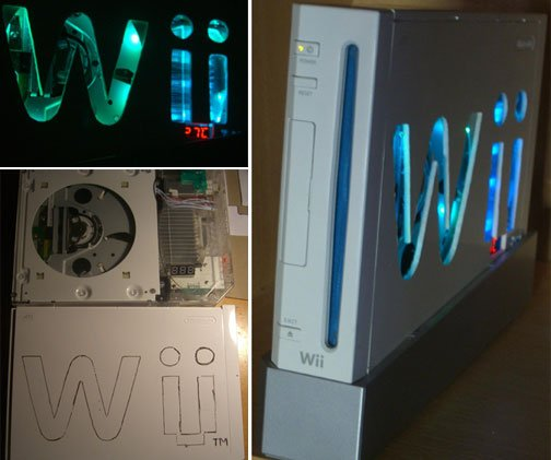 wii case mod color