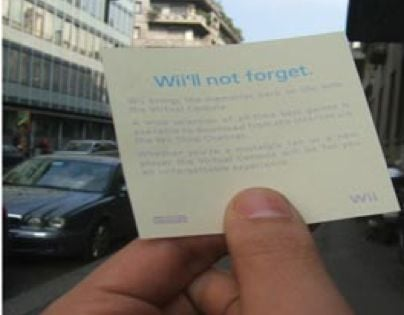 Wii Post-it Note Ad Campaign