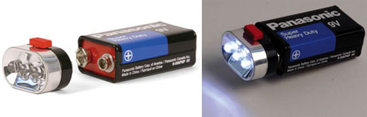 Kikkerland 9-Volt LED Flashlight