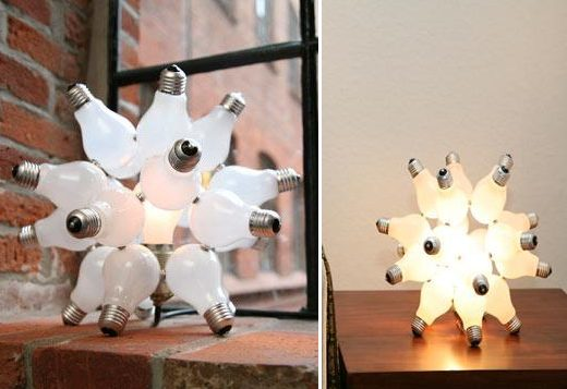 Lamps Made Out of Light Bulbs