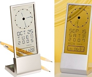 See-Through LCD Clock Lets Your True Colors Shine Through