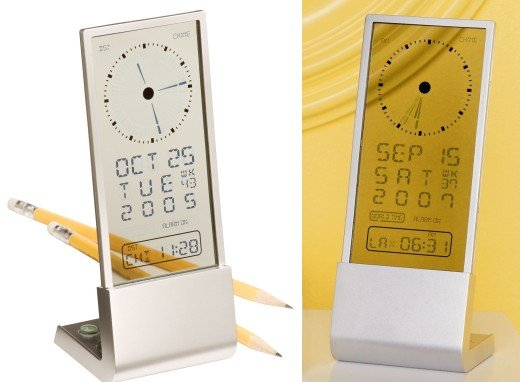 CB2 LCD See Through Clock